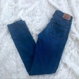 LEVIS MID RISE SKINNY JEANS SIZE 4